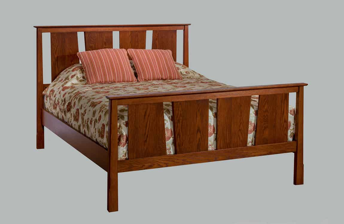 Timber Creek High Footboard Vertical Panel Bed
