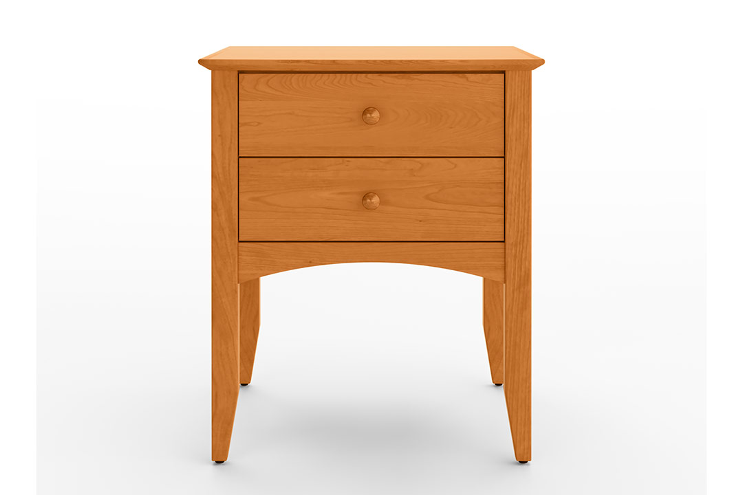 Two Drawer Nightstand Td10 2 Vermont, Vermont Made Furniture